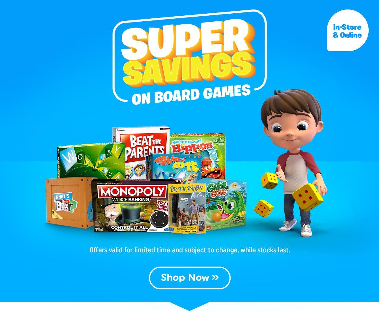 Super Savings on Board Games