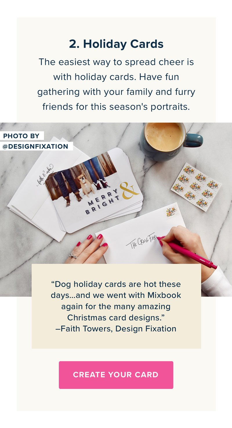 2. Holiday Cards - Create Your Cards