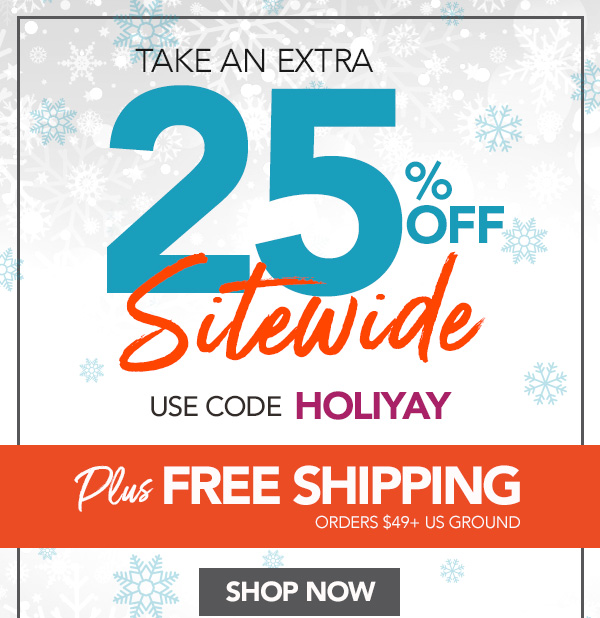 25% Off Sitewide + Free Shipping On Orders $49+