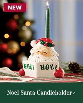 Noel Santa Candleholder