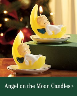 Angel On The Moon Candles