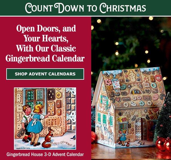 Gingerbread House 3-D Advent Calendar