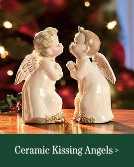 Ceramic Kissing Angels