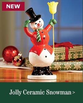 Jolly Ceramic Snowman