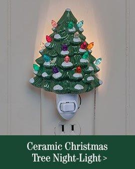 Ceramic Christmas Tree Night-Light