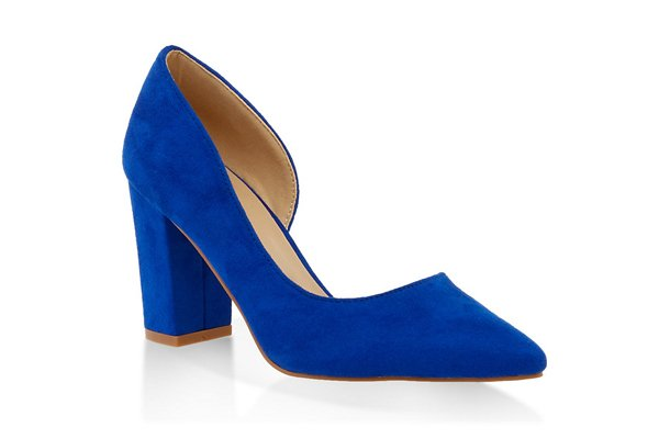 Block Heel Dorsay Pumps