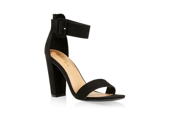 Buckle Ankle Strap Block Heel Sandals