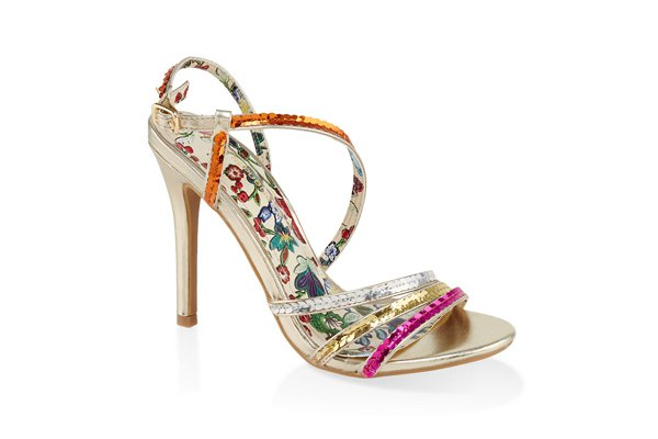 Sequin High Heel Sandals