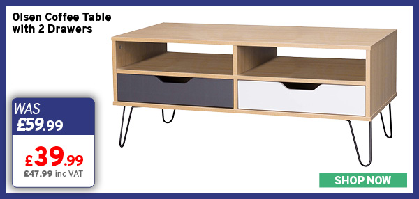Olsen Coffee Table with 2 Drawers