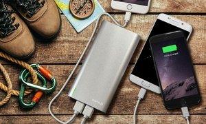Aduro Extreme Boost 20,000mAh Backup Portable Battery with 4 USB Ports