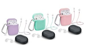 AirPods 1 & 2 Case Cover & Accessory Pack (5-Piece) (LED Not Visible)