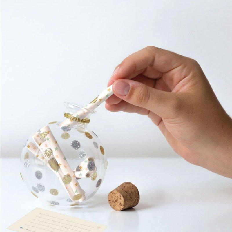 Boules en verre 12 messages souvenirs