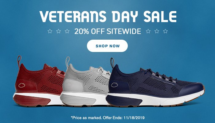 Veterans Day Weekend Sale - 20% Off Sitewide + Free Shipping