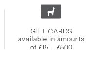 Gift cards available in amounts of £15-£500.