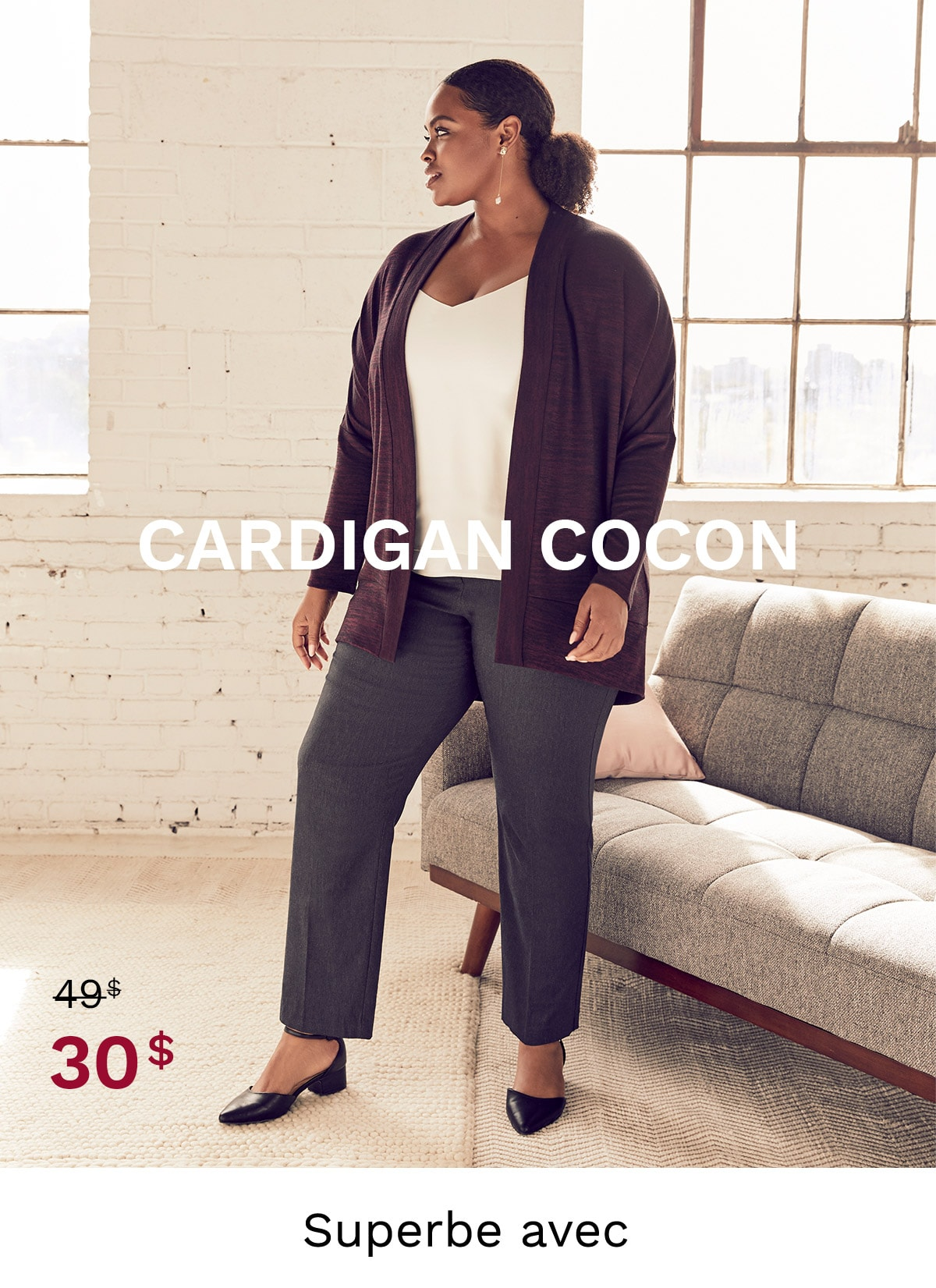 Cardigan cocon