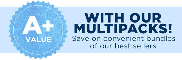 SAVE ON OUR MULTIPACKS