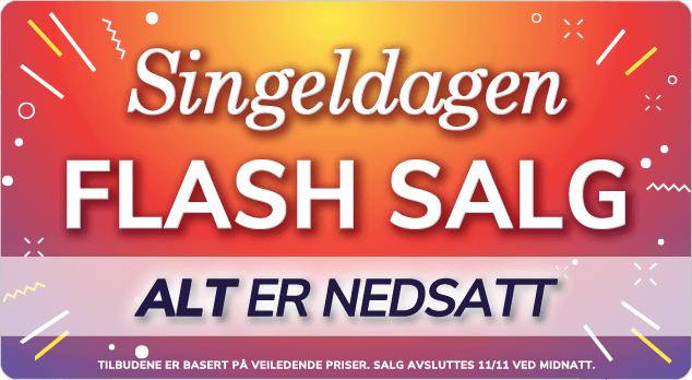 Handle i vårt Flash Salg for singeldagen