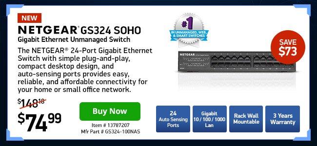 Netgear GS324 SOHO GigE Unmanaged Switch 24port|13787207|Shop Now