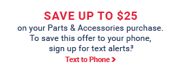 Signup for Pep Boys Text Alerts