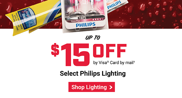 $15 OFF Rain-X Wipers and Philips Lights