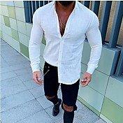 Chemise Homme, Couleur Pleine Noir