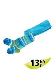 Kinder Strumpfhose blau-geringelt Gr.1-2