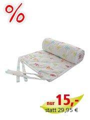 Nestchen Babybett für Beistellbett Bio-Baumwolle Pickapooh bunt 25 x 144 cm