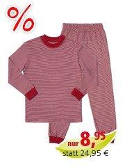 Kinderschlafanzug rot Gr.62/68