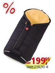 Christ Fußsack Kinderwagen Lammfell Tula Vario Zip (Softshell) schwarz Länge 100 cm, Breite 50 cm (6-36 Monate)