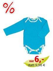 Baby Body Langarm blau-pünktchen Gr.62/68