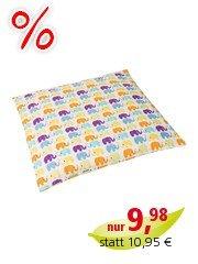 Baby Bettbezug Bio-Baumwolle Babyelefanten 80 x 80 cm