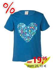 Frugi Mädchen T-Shirt Blümchen Herz Gr.6 (2-3 Jahre)