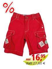 Frugi Baby und Kinder Cargo-Shorts Tomate Gr.3 (6-12 Monate)