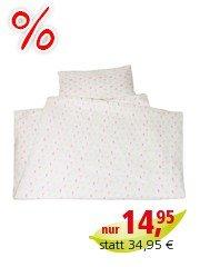Kinderbettwäsche Bio-Baumwolle Jersey Pickapooh bunt Bettbezug 100 x 135 cm, Kissen 40 x 60 cm