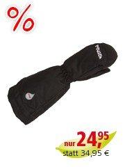 Kinder Handschuhe Fäustlinge mit Stulpen black Gr.3 (2-3 Jahre)