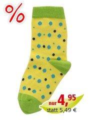 Kinder Socken gelb-pünktchen Gr.1-2