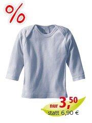 Baby-Schlupfhemd, langer Arm blau 50/56