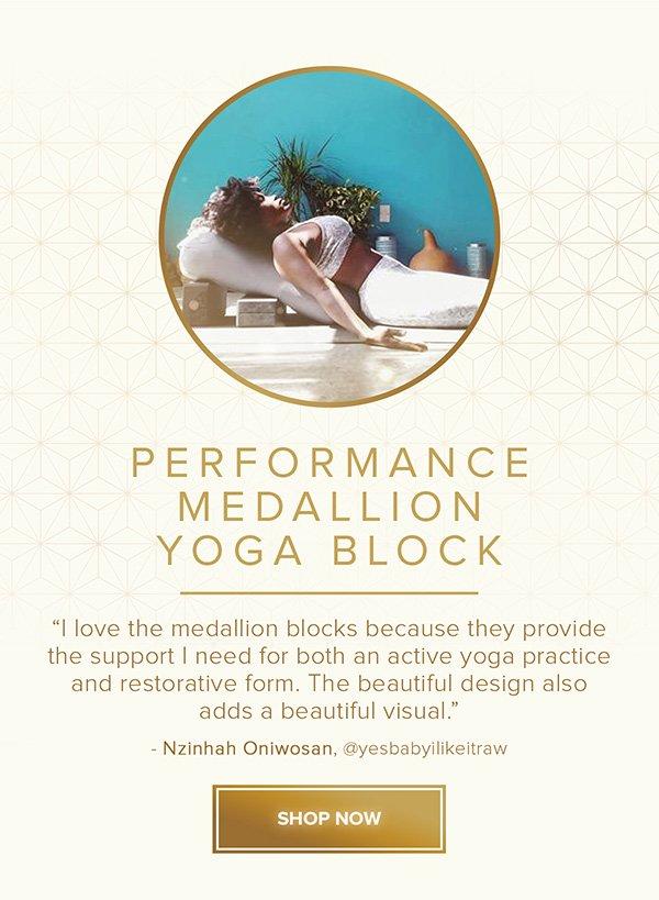 Performance Medallion Yoga Block - Shop Now