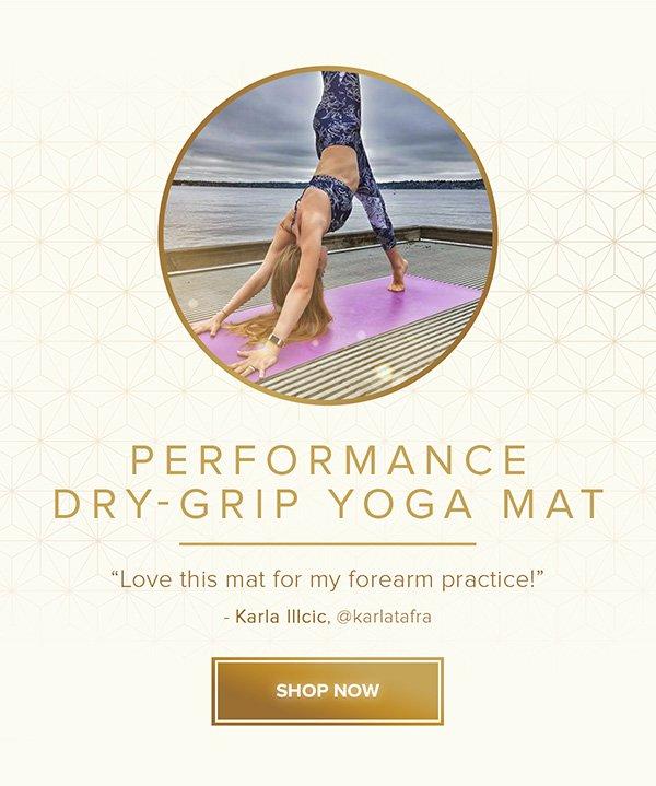 Performance Dry-Grip Yoga Mat - Shop Now