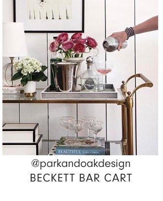 @parkandoakdesign - BECKETT BAR CART