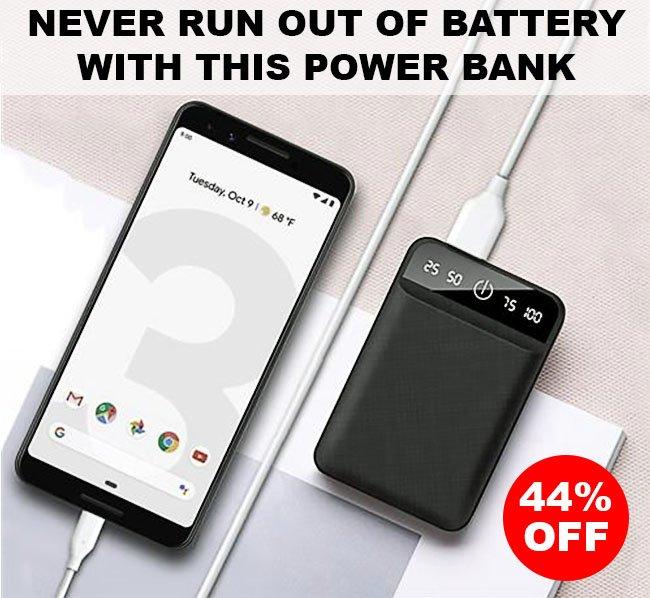 Tech Choice 7800mAh USB Slim Power Bank Waterproof (SLIM7800)