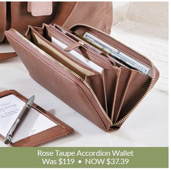 Shop Rose Taupe Accordion Wallet