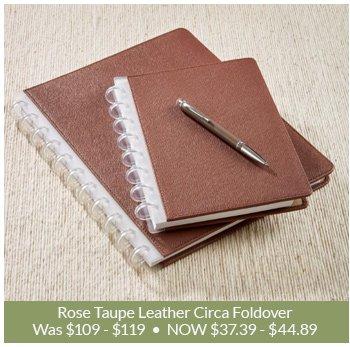 Shop Rose Taupe Leather Circa Foldover