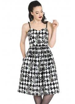 Hauntly Bats & Roses 50s Dress