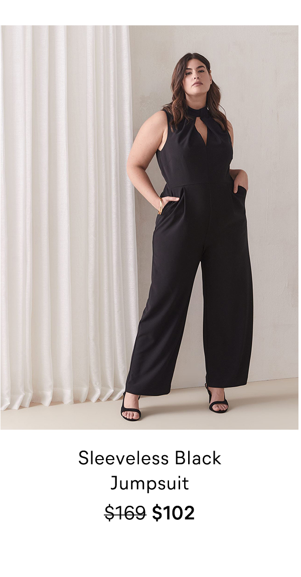 Sleeveless Black Jumpsuit $169 $102