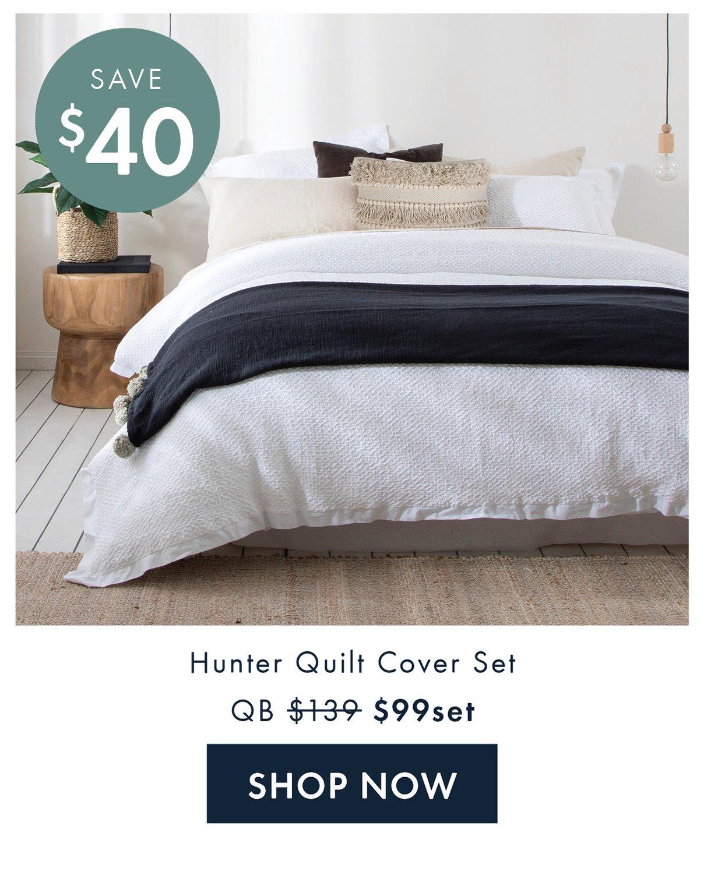 Save $40 | Hunter Quilt Cover Set QB $99set | Shop Now