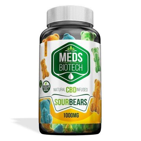 Image of Meds Biotech Gummies - CBD Infused Sour Bears