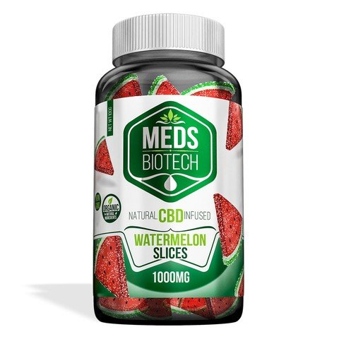 Image of Meds Biotech Gummies - CBD Infused Watermelon Slices