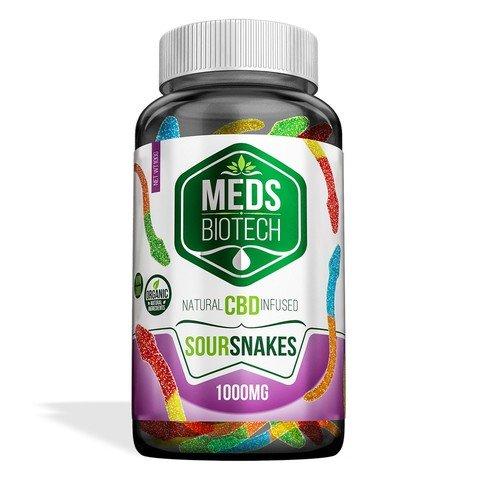Image of Meds Biotech Gummies - CBD Infused Sour Snakes