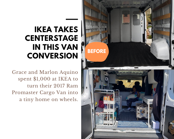IKEA camper van conversion